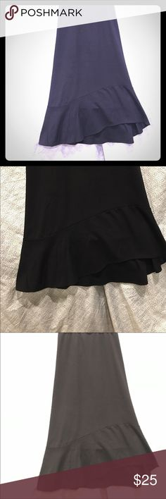 "Plus size 26/28 Fashion Bug Black Skirt Plus size 26/28 Fashion Bug Black Skirt 34"" length swirl design on bottom goes all the way around. No slits front of skirt is a bit higher than back of skirt. Fashion Bug Skirts High Low"