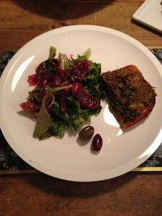 Blood Orange & Date Salad and Lentil Toast