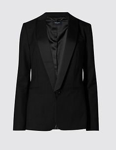 1 Button Blazer with Wool | M&S