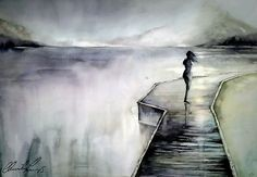 Image result for acrylic paintings of loneliness