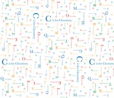 R is for radiocarbon!  C is for Chemistry fabric by robyriker on Spoonflower - custom fabric