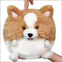 """Squishable Mini Corgi Plush- 7"""" (012193785213) 7 squishy inches of permanently peckish pup All new polyester fiber Ages 3 and up"""