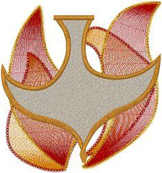 Machine Embroidery Design: Christian Holy Spirit #8