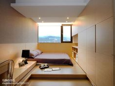 Platform Bedroom, Apartment Interior, Apartment Design, Japanese Home Decor, Modern Home Interior Design, Master Room, Bed Design, Home Bedroom, Bedrooms