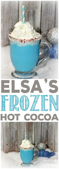 Many kids are obsessed with Elza from Frozen cartoon. Make them be obsessed even more with this delicious cacao!
