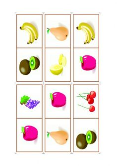 Domino-Obst-I Cupcake Toppers Free, A Table, Dominos, Avril Mai, Bingo, Maths, Montessori, Teaching, Inspiration