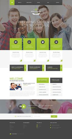 Template 51770 - High School Responsive WordPress Theme with Parallax and Lazy Load Effect, Gallery and Blog