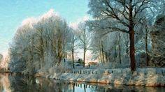 I uploaded new artwork to fineartamerica.com! - 'Frozen River And Trees In Winter Season' - http://fineartamerica.com/featured/frozen-river-and-trees-in-winter-season-lanjee-chee.html via @fineartamerica