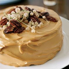 Pumpkin Cake with Caramel-Cream Cheese Frosting