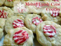 Home Made Modern: Recipe of the Week: Melted Candy Cane Cookies