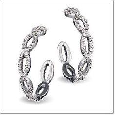Rhinestone Hoop Earrings - AVON $7.99