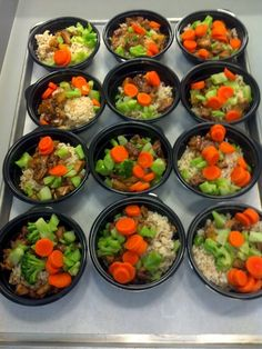 Love the colors in these tasty rice bowls. From Novato School Nutrition Services, California.