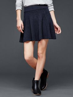 Knit flare skirt Product Image