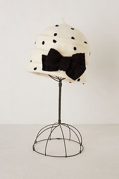 Lille Polka Dot Cloche #anthropologie This would be so perfect for winter!