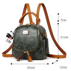 Retro Multi-function Small Square PU Shoulder Bag Handbag Lady Backpack