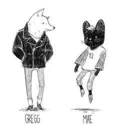 My take on Gregg and Mae from Night in the Woods