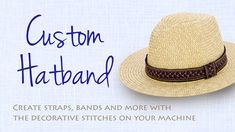 Stitch a Simple Hatband with Your Favorite Decorative Stitches