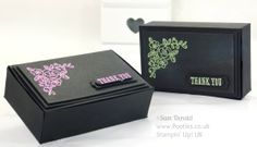 POOTLES Stampin' Up! UK Independent Demonstrator - Heat Embossed Stylish Box Tutorial using Stampin' Up! supplies