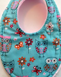 Baby Bib Blue Retro Owls Super Absorbent Triple Layer Bib Mom Approved on Etsy, $7.99  So cute and keeps baby dry!