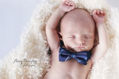 Newborn Boy with Bow