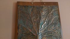 Detail of Tree of Life ,embossed copper.