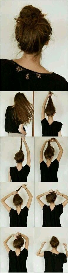 How to: Do a perfect messy bun.