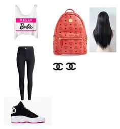 """thrusday outfit"" by mayawhite04 ❤ liked on Polyvore featuring beauty, H&M and MCM"