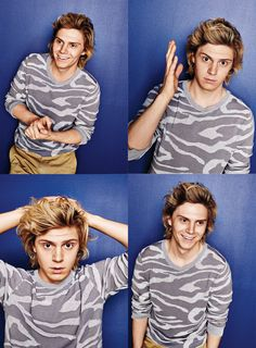 May Fashion 2014 - Los Angeles magazine  Evan Peters during the off season of AHS