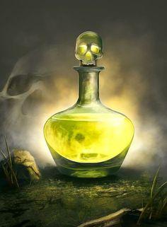 Potion de poison magique (1D15 de dégât)