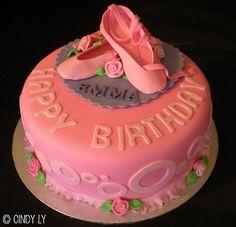 ballet shoe cake - Google Search