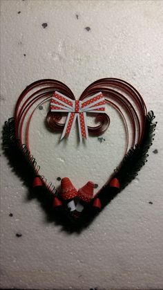 Quilling heart for Christmas