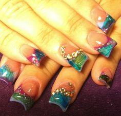 Acrylic nails by Rosie Ortega