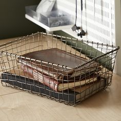 55 Ideas wire storage baskets towels for 2019 Wire Basket Storage, Wire Storage, Pantry Storage, Wire Baskets, Storage Baskets, Storage Containers, Onion Storage, Wicker Hamper, Rustic Baskets