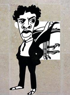 Caricaturas do Metro Aeroporto», de António Antunes - Amadeo -