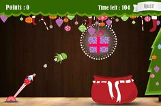 Set angles and power to catch the present. The popular 12 Games of Christmas are now free on TES iboard. Set the angle and power to fling the elf. The challenge? Catch the present AND land in the sack. This is an online version of our popular iPhone and iPad apps and is best viewed on those devices - download them for free from the app store.
