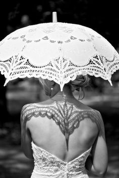 Beautiful parasol lace detail photo