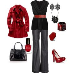 Top 14 Red Work Outfit Designs – Happy Christmas & New Year Famous Fashion - Homemade Ideas (7)
