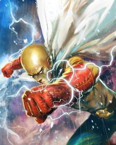 One Punch Man - Saitama One Punch Man Anime, Saitama One Punch Man, Manga Anime, Anime Art, Animes Wallpapers, Anime Shows, Cartoon Drawings, Cool Art, Awesome Art