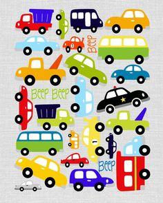 Cars Car Art Transportation Theme Boy Nursery by sweetleighmama