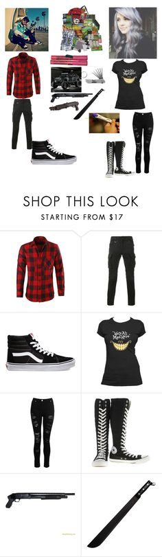 """""""John and Sky"""" by animewolf-354 ❤ liked on Polyvore featuring Sophnet., Vans, Converse and Shield"""