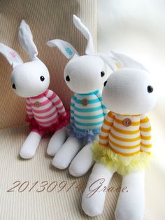 Grace--sock rabbits