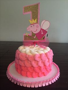 Peppa pig smash cake
