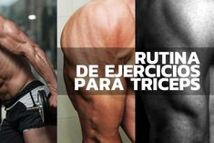 Rutina de ejercicios para triceps.  #Fitness #training #Triceps #muscle #gym #Entrenamiento