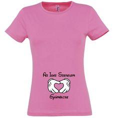 Az Igaz Szerelem Gyümölcse kismama póló rózsaszín