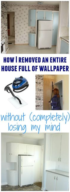 How I removed an entire house full of wallpaper without completely losing my mind using the Homeright Steam Machine at thehappyhousie.com
