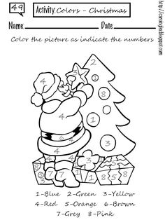 coloring page Christmas (and more) on Kids-n-Fun. Coloring pages of Christmas (and more) on Kids-n-Fun. More than coloring pages. At Kids-n-Fun you will always find the nicest coloring pages first! Christmas Worksheets Kindergarten, Kindergarten Graduation Gift, Worksheets For Kids, Printable Worksheets, Free Printable, Printables, Color By Number Printable, Cool Coloring Pages, Coloring Books