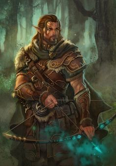 Kheldrim Wolfsong by *dleoblack on deviantART Looks like a half-elf ranger