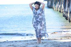 Imprimir Kaftan encubrimiento de la playa, además de traje de baño de tamaño