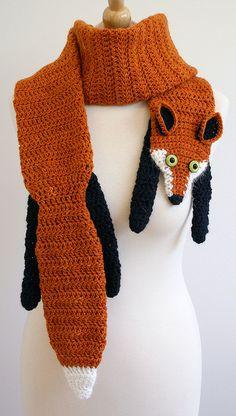 Faux fox fur scarf