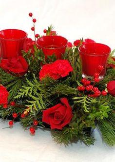 Tips Decoración Navidad - Centros de Mesa con Flores Christmas Wreaths, Table Decorations, Holiday Decor, Home Decor, Christmas Tables, Christmas Decor, Centerpieces, Flowers, Decoration Home